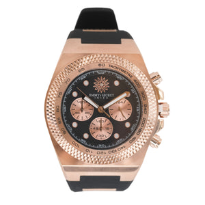 Rose Gold Balck Jimmys Secret Watch detail