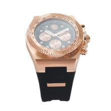 Load image into Gallery viewer, Rose Gold Balck Jimmys Secret Watch top