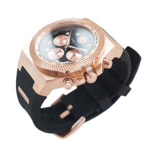 Rose Gold Black Jimmys Secret Watch side