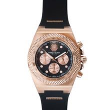 Load image into Gallery viewer, Rose Gold Black Jimmys Secret Watch top
