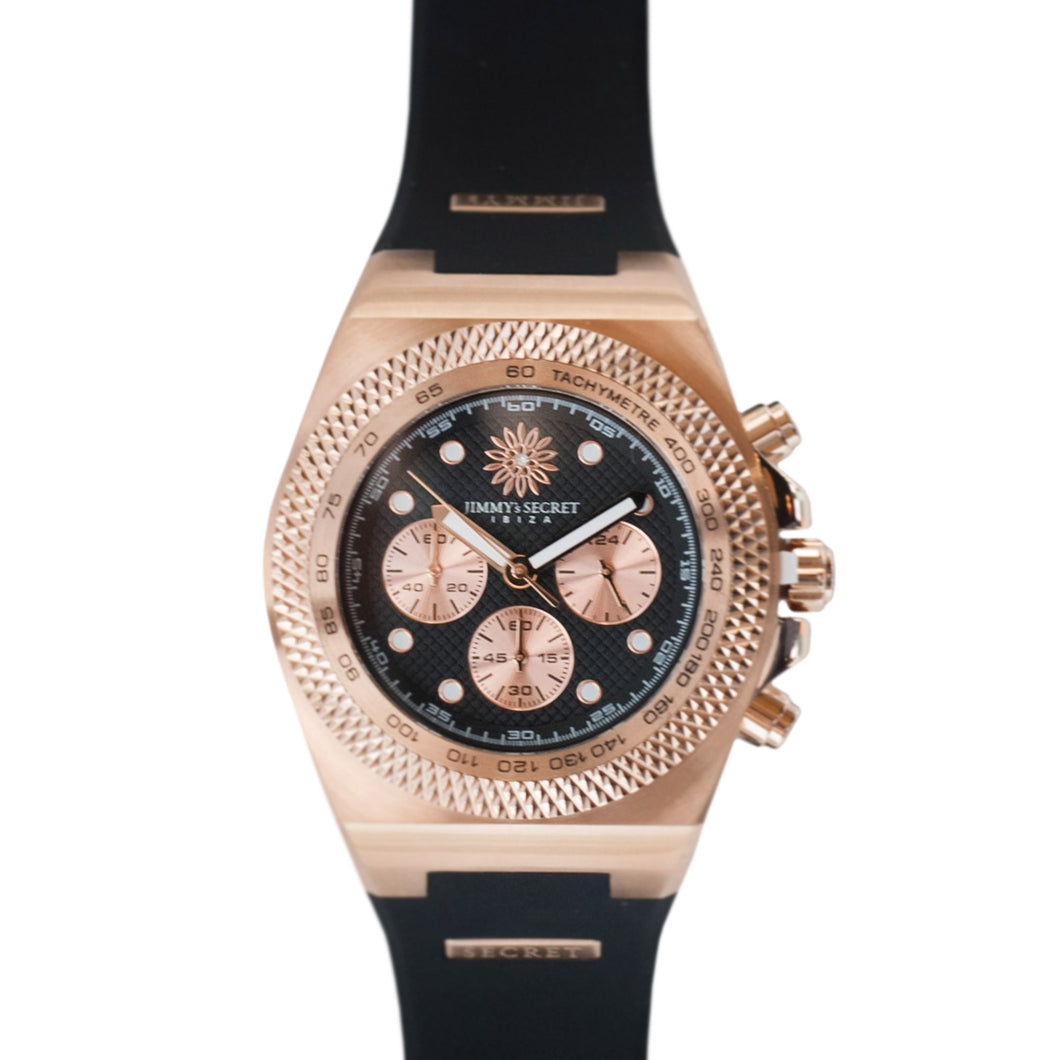 Rose Gold Black Jimmys Secret Watch top