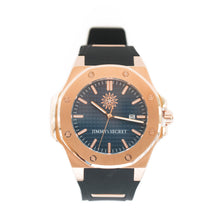 Load image into Gallery viewer, Rose Gold Blue Black Jimmys Secret Watch front