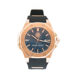 Rose Gold Blue Black Jimmys Secret Watch front