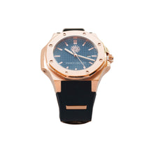 Load image into Gallery viewer, Rose Gold Blue Black Jimmys Secret Watch side