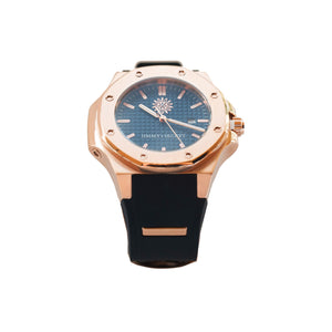 Rose Gold Blue Black Jimmys Secret Watch side