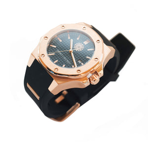 Rose Gold Blue Black Jimmys Secret Watch crown