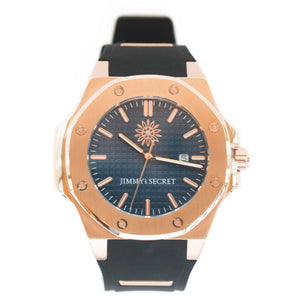Jimmys Secret Watch Blue Rose Gold
