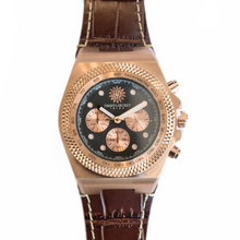 Laden Sie das Bild in den Galerie-Viewer, Jimmys Secret Ibiza rose leather strap chrono detail