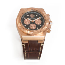 Laden Sie das Bild in den Galerie-Viewer, Rose Lether Strap Chrono Jimmys Secret top