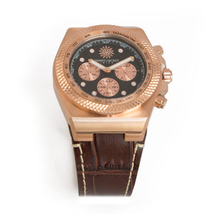 Rose Lether Strap Chrono Jimmys Secret top