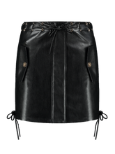 Load image into Gallery viewer, Imitation Leather Skirt Kendall Black