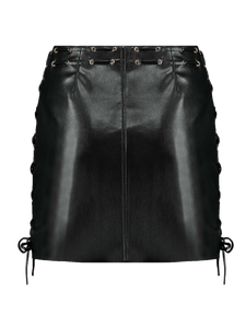 Imitation Leather Skirt Kendall Black