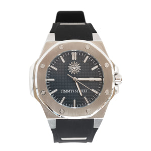 Steel Blue Black Jimmys Secret Watch front