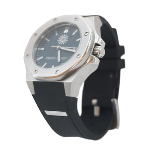 Steel Blue Black Jimmys Secret Watch side