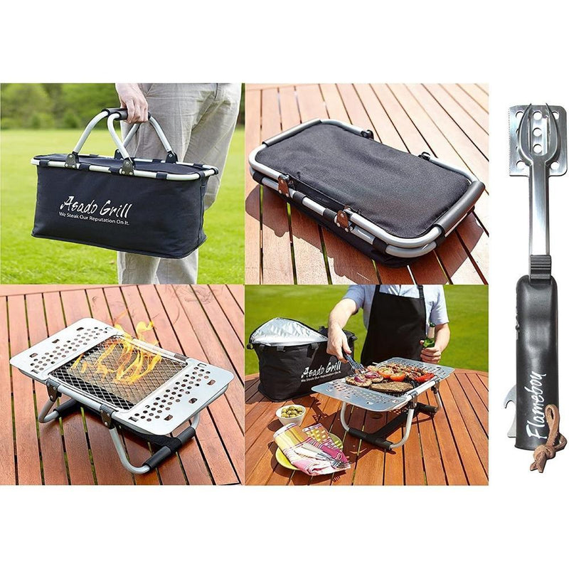 Asado BBQ Grill Set with Carry Case-Fresh The Good Food Market
