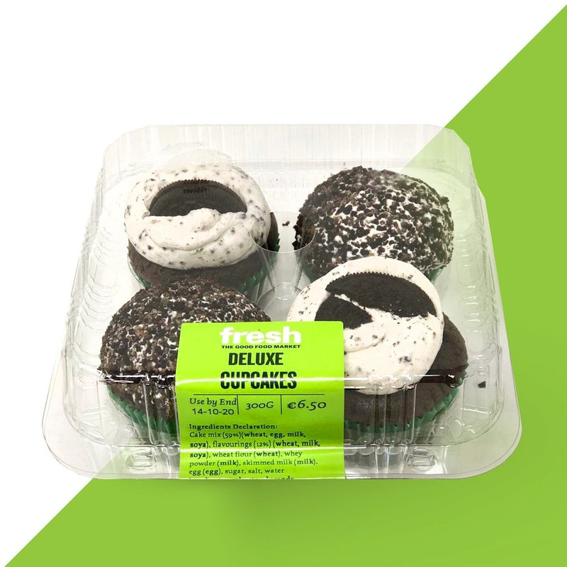 Fresh Cupcakes 4 Pack Chocolate & Oreo-Fresh The Good Food Market