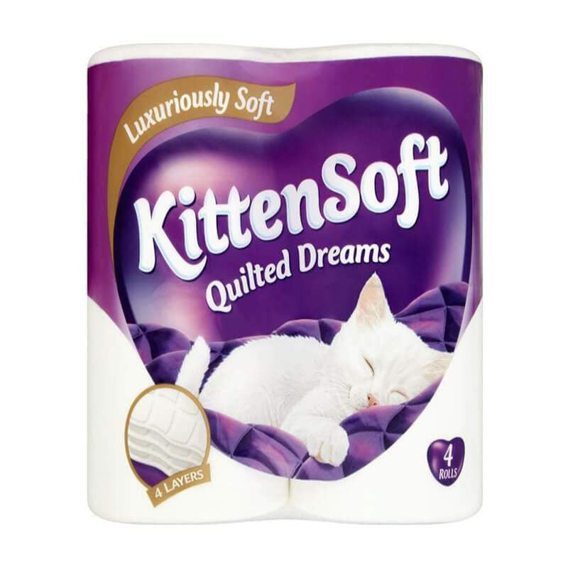 Kittensoft Quilted Dreams 4 Pack Toilet Roll-Fresh The Good Food Market