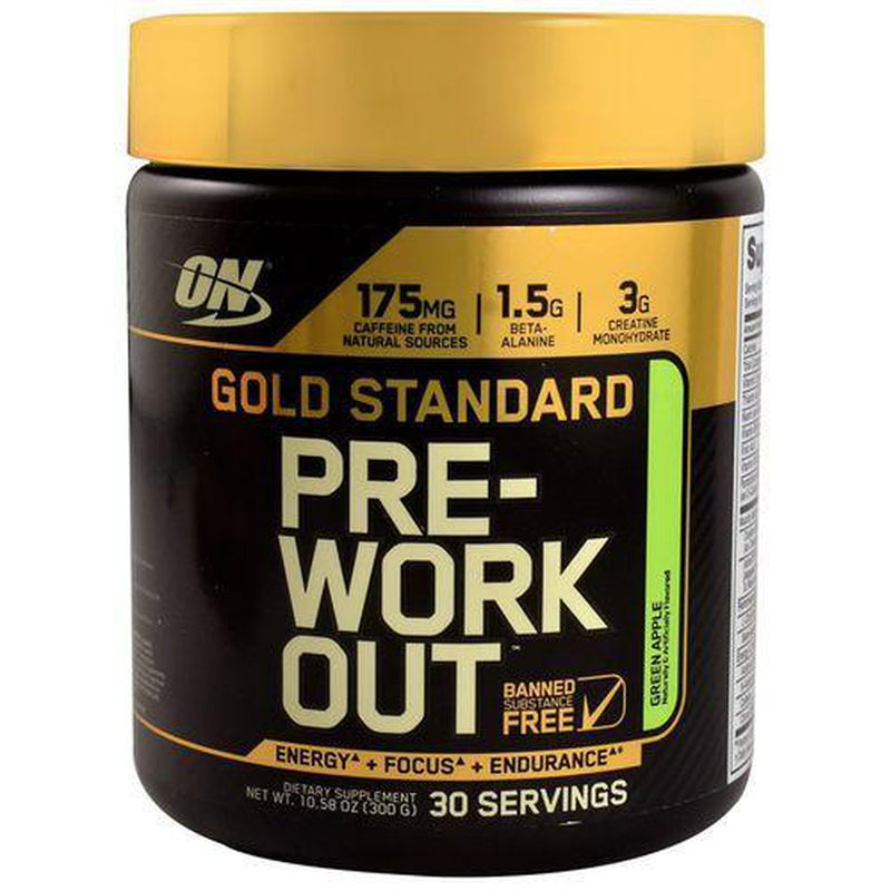 Optimum Nutrition Pre Workout Green Apple 300g 30 Servings-Fresh The Good Food Market
