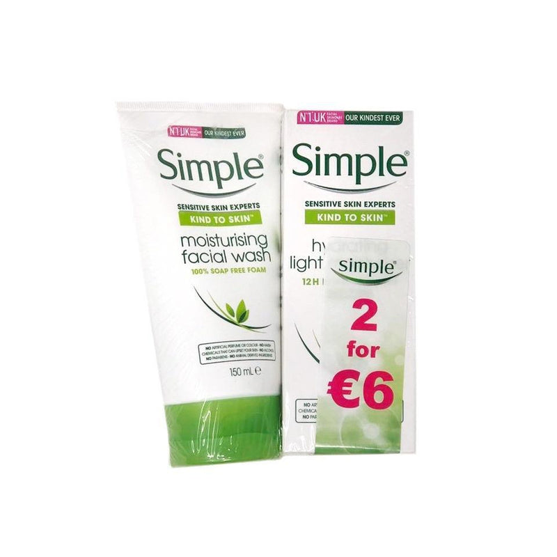 Simple Face Wash & Moisturiser 2 Pack Special-Fresh The Good Food Market