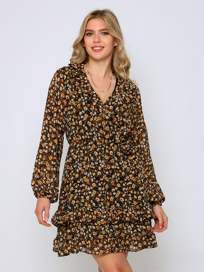 Cafe Jade Floral Wrap Dress