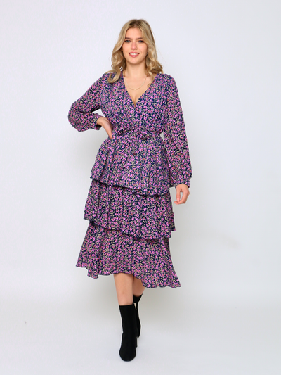 Cafe Jade Lilac Love Midi Dress