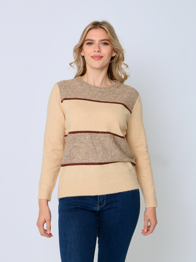 Jenny Wren Metallic Colour Block Jumper