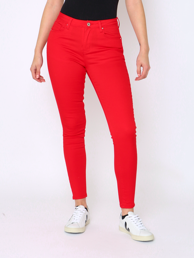 WREN Jeans Shaper Jean in Red - WrenClothing.ie