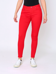 WREN Jeans Shaper Jean in Red - Wren Clothing