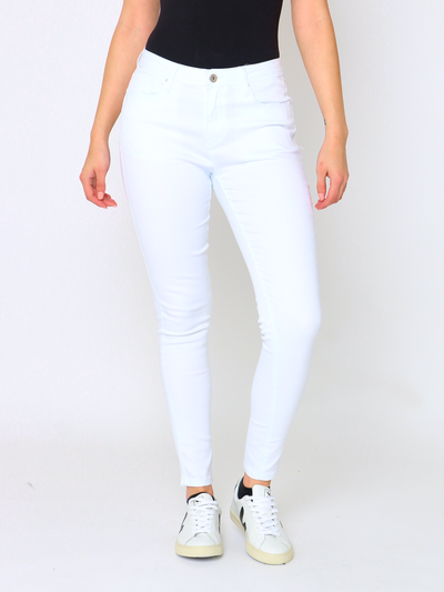 WREN Jeans Shaper in White Denim - Wren Clothing