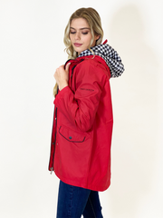 Nautical Red Raincoat by Christopher Wren - Wren Clothing