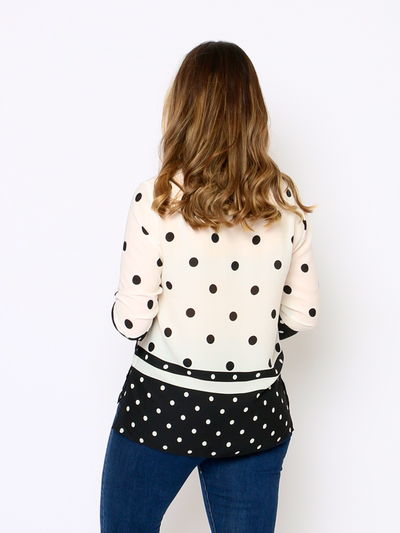 Harbour Polka Dot Blouse - WrenClothing.ie
