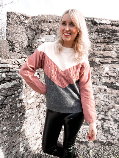 Jenny Wren Colour Block Jumper