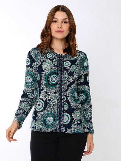 Embellished Cardigan Green