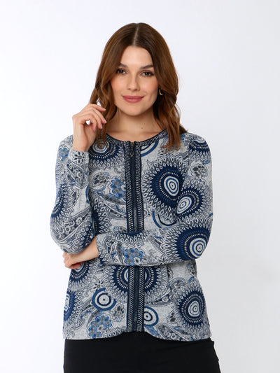 Embellished Cardigan in Blue