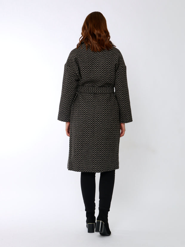 Cafe Jade Herringbone Coat