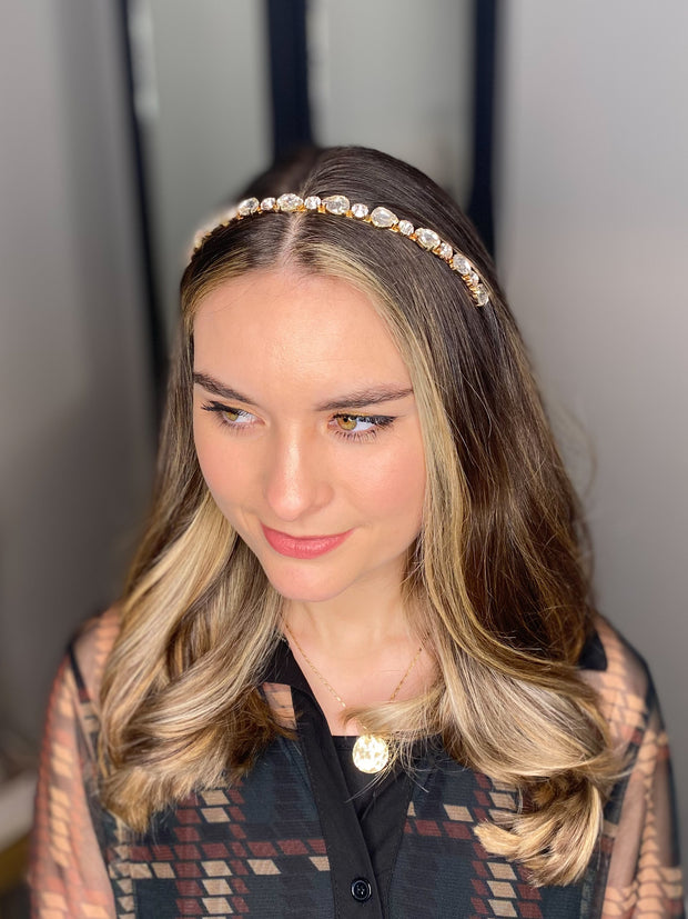 The Sofia Headband in Gold