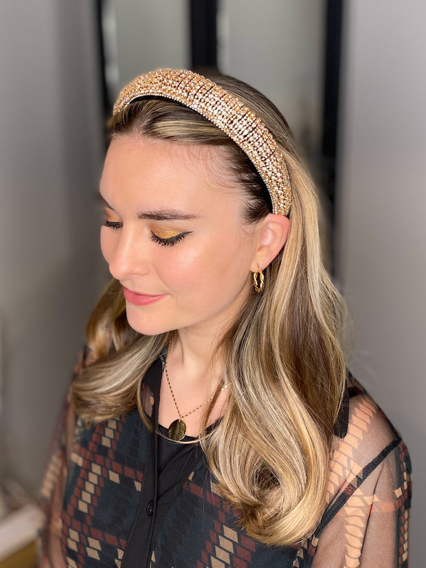 The Celine Headband in Gold