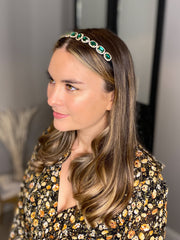 The Heather Headband in Emerald