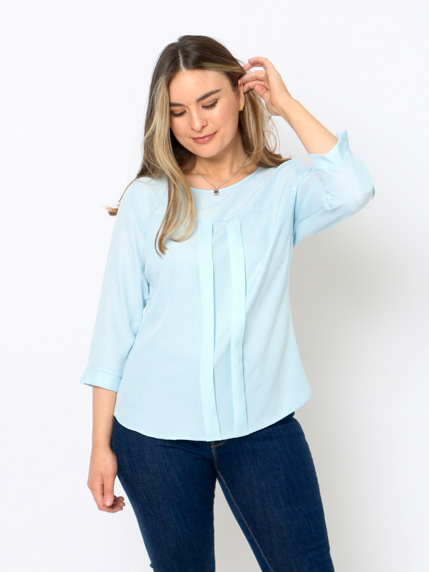 The Aster Top In Blue