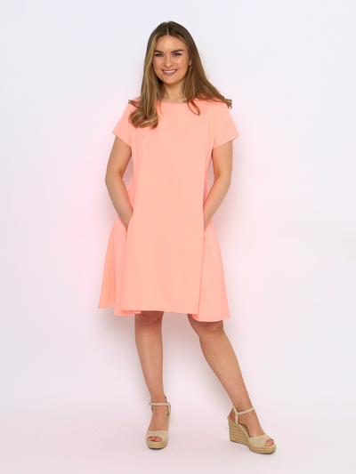 Fit & Flare Dress in Peach