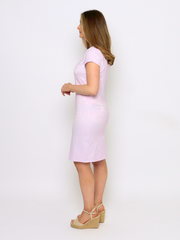 Textured Dress In Lilac by Christopher Wren
