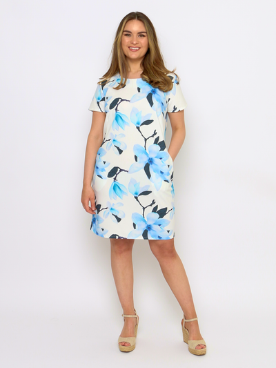 Floral Dress In Blue by Christopher Wren