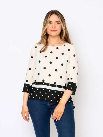 Harbour Polka Dot Top In Black