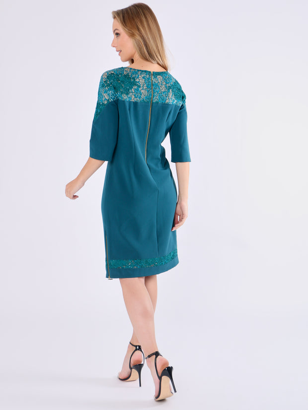 Green Lace Dress by Chistopher Wren