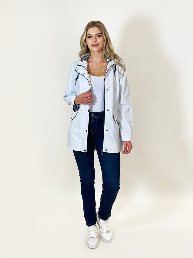 White Raincoat by Christopher Wren - WrenClothing.ie