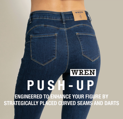 WREN Jeans Push-Up In Dark Denim - WrenClothing.ie
