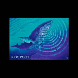 Bloc Party Mexico 2019 Gus Morainslie Gig Poster