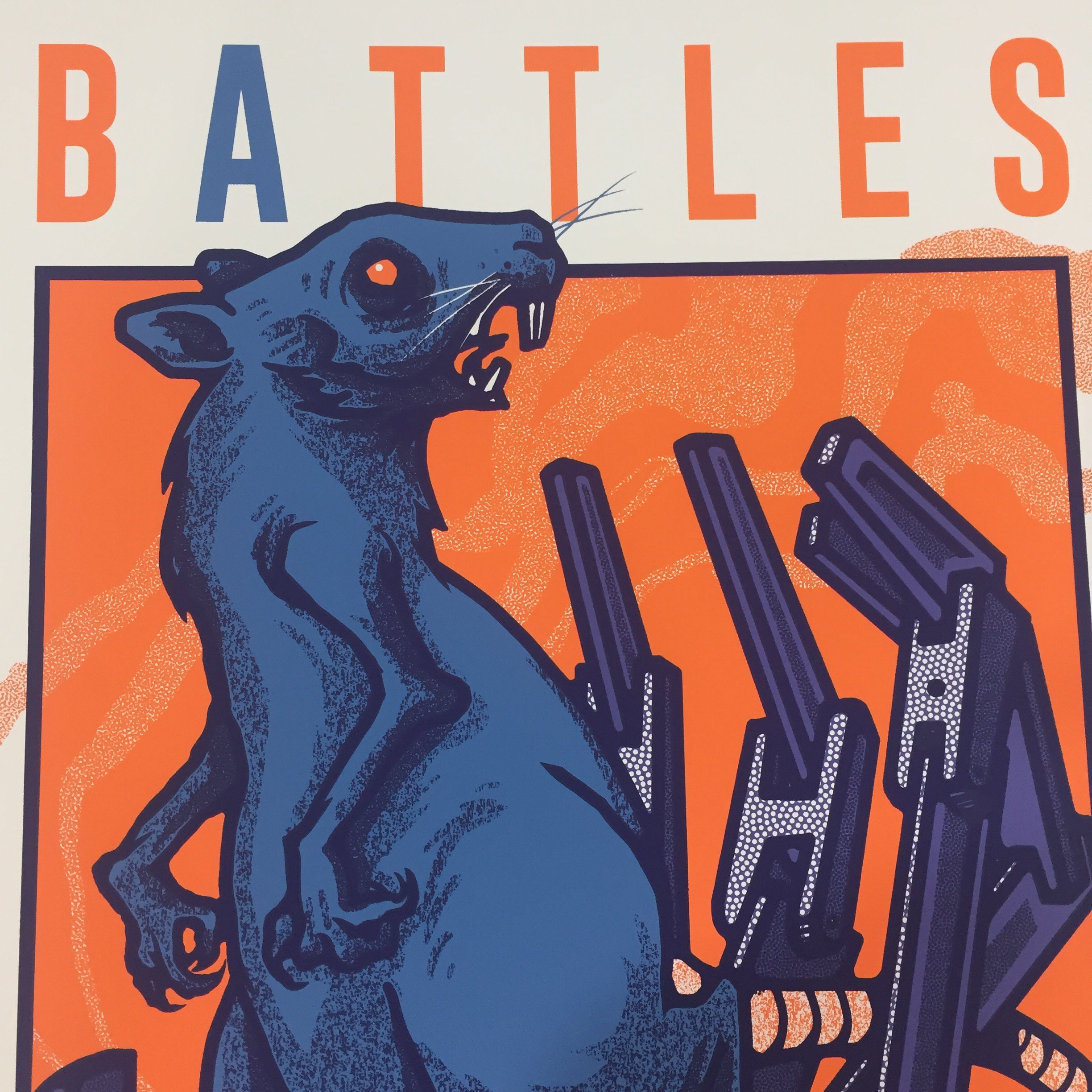 Battles Mexico 2020 Mike Sandoval Gig Poster