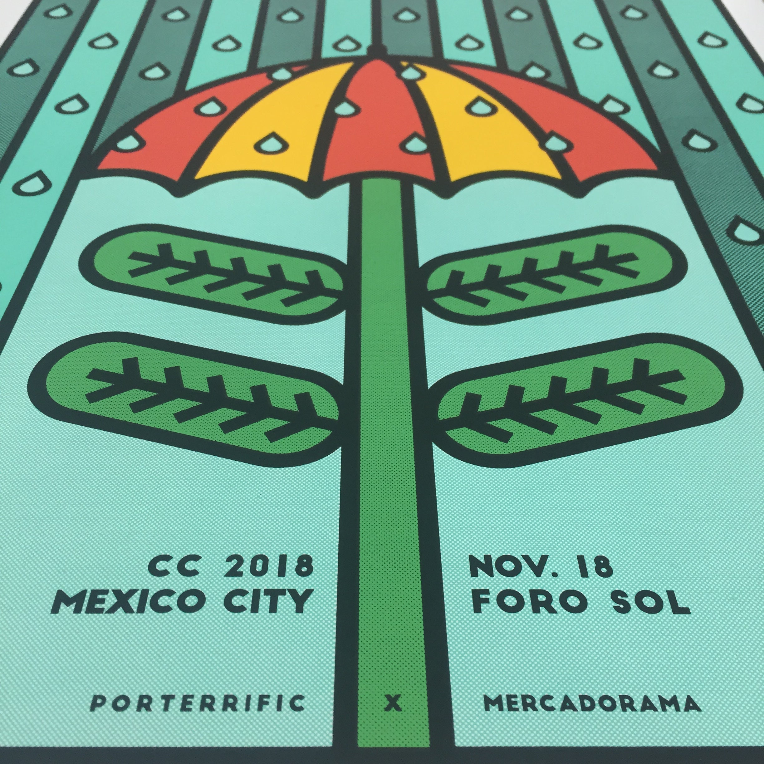 Death Cab for Cutie Mexico 2018 Porterrific Gig Poster