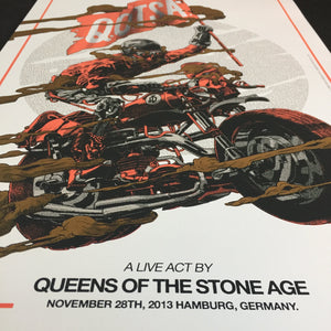Queens of the Stone Age Hamburg 2013 Smithe Gig Poster